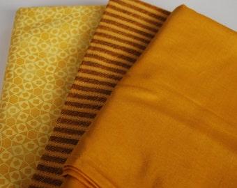 One Pound  Fabric Scraps -- Yellow-- cotton fabric