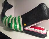 Paper Mache Cachalotte Whale Sculpture