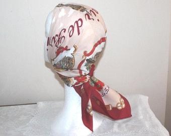 Vintage Paris souvenir scarf. Roge L Paris