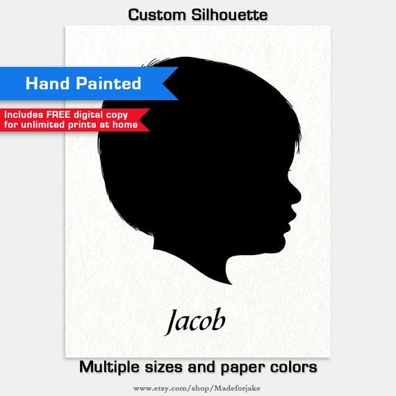 Custom Handpainted Silhouette