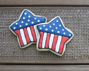 4th of July Party Favors // 4th of July Star Sugar Cookies // 4th of July Sugar Cookies // July 4th Party Favors // July 4th Party Decor