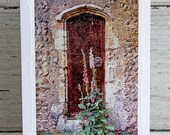 Medieval Church Door Photo Greeting Card, White Blank All Occasion Notecard, English Countryside, Fine Art Photography, Weathered Wood Door