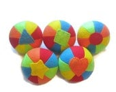 Balls Felt Panel Set of 5 Shape and Color Play and Learn Toy