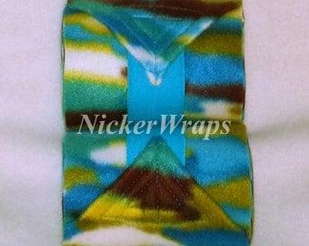 NickerWraps Camo Turquoise2 Polo Wraps - FREE US Shipping