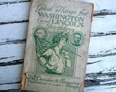 Antique 1914 vintage Marie Irish patriotic book ephemera Washington Lincoln Birthdays for classroom teachers songs and plays Chicago