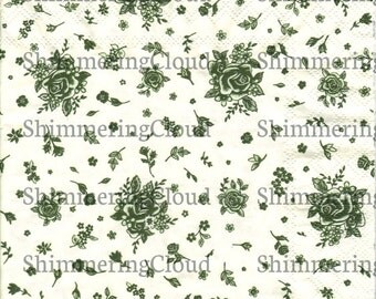 Decoupage napkins, olive green, wall paper pattern, roses, Flower, Floral, Paper, white, Scrapbooking, spring, pale, pink, leaves, leaf,