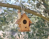 Little Birdhouse, wood and wine corks