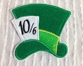 Mad Hatter Hat Inspired Iron On Appliqué