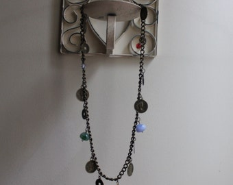1990s Brass Coin Necklace
