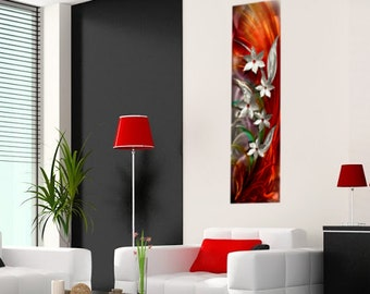 Metal Art  Wall sculpture - By Wilmos Kovacs- Abstract Painting on Metal Sculpture Rainbow Wall Art Decor W961