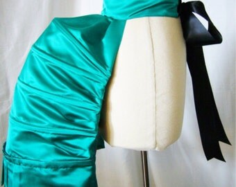 Custom Fabric Structured Hooped Bustle in Delicious Silk Fabric - Undergarment, Custom Made