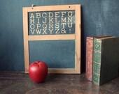 SALE Early Primitive Wood Slate Chalk Board One Room Schoolhouse Americana Antique