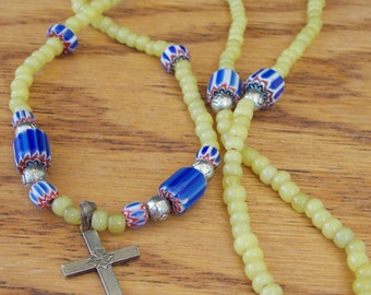 One Of A Kind Beaded Cross Necklace