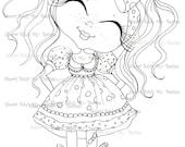 INSTANT DOWMLOAD Digital Digi Stamps Big Eye Big Head Dolls Digi img525  By Sherri Baldy