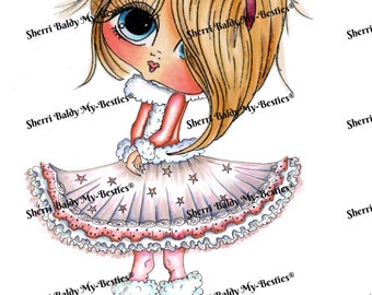INSTANT DOWNLOAD Digital Digi Stamps Big Eye Big Head Dolls Bestie Blakely Ann Winter Star  My Besties By Sherri Baldy