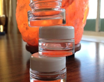 1/4 ounce glass jars with lids set of 4