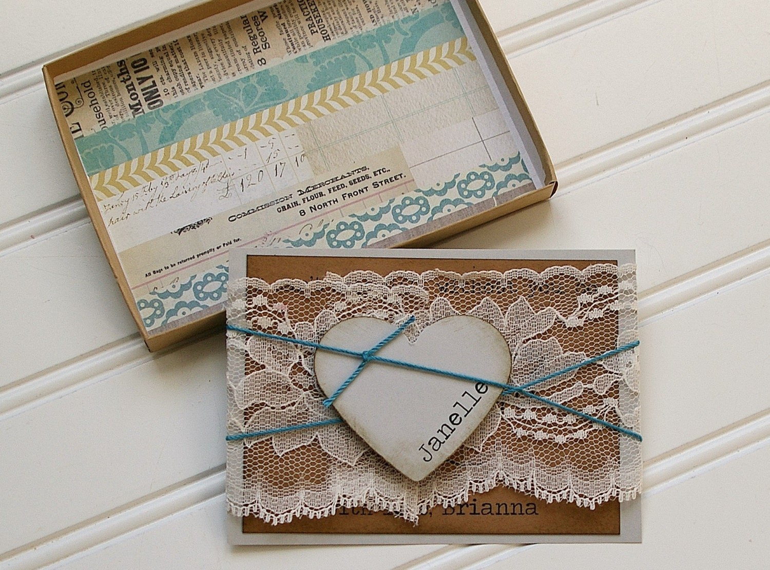 Bridesmaid Invitations- Rustic Lace Boxed Gifts for Bridal ...