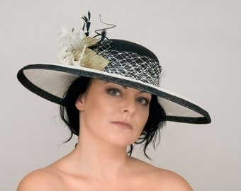 Sinamay Hat-Derby and coctail