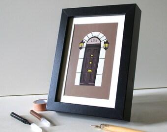 Sherlock Holmes Print 221B Baker Street Print Cute Postcard Framed Print