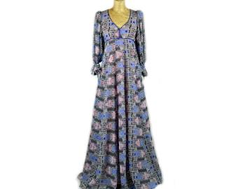 1970s Hippyy Maxi Dress
