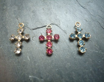 Small Swarovski Crystal Cross Charm - Crystal Cross Charm