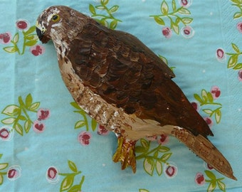Wooden Goshawk Decoration