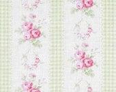 Tanya Whelan - Free Spirit Fabric - Slipper Roses - Country Ticking - Green - Choose Your Cut-1/2 or Full Yard