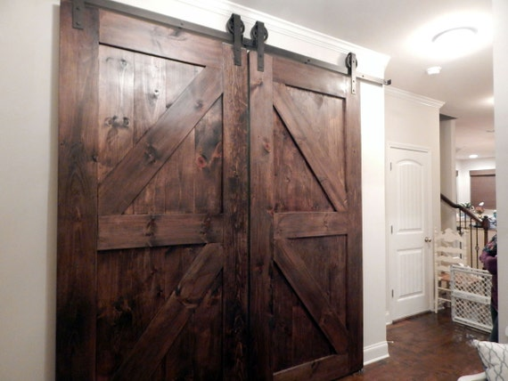 atlanta interior sliding barn doors double z style by youreunique. Black Bedroom Furniture Sets. Home Design Ideas