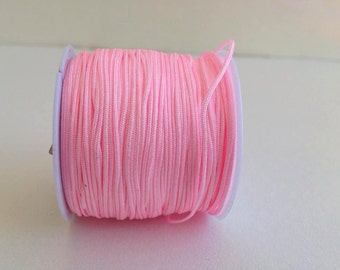soft pink Chinese Knotting Cord  , 0.8 mm Jewelry cord, bracelet cord,  Necklace cord, nylon beading Cord, 11 yards (10 meters), cord string