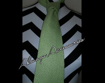 Green and Brown dots Tie