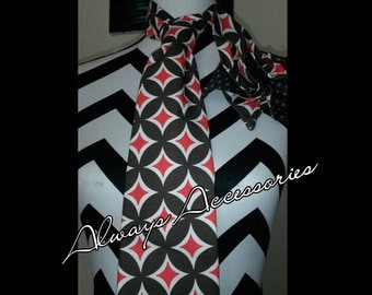 Red and Gray Tie Set