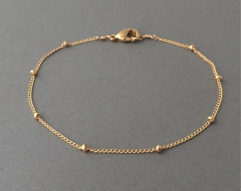 Gold Fill Satellite Chain Layering Bracelet also in Rose Gold Fill and Silver
