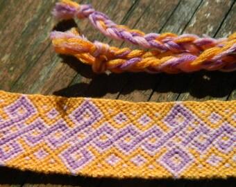 Orange, Pink, and Purple Friendship Bracelet