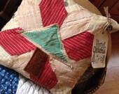 Merry Christmas~ Prim Christmas Tree Pillow Tuck~ Rustic~ Winter Decor~ Primitive Christmas