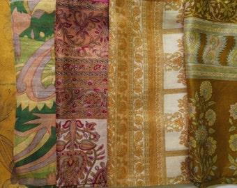 Silk Fat Quarters, Silk Fabric, Sari Silk FQ 126