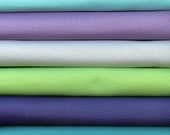 Bella Solids to coordinate with Horizon by Kate Spain for Moda 6 Fat Quarters 100 Percent Premium Cotton Quilting Fabric