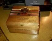 Cigar Box Ashton Special Edition Wizard 8 x 7 x 4 Blonde Wooden Chest by IndustrialPlanet