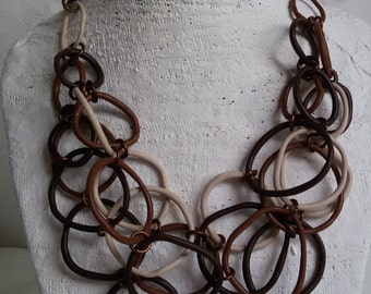 brown multicolored Necklace