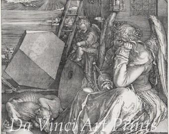 Fine Art Reproduction. Melencholia I, 1514 by Albrecht Durer. Fine Art Print
