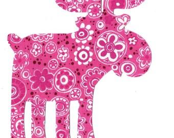Moose applique - iron on DIY