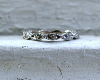 Thin Diamond Wedding Band.