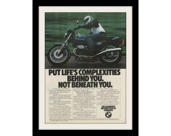 "1983 BMW R65 Motorcycle Ad ""Complex"" Vintage Advertisement Print"