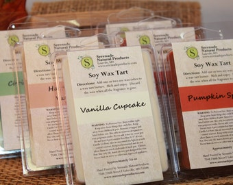 6 PACKS - Soy Wax Tarts - You Pick Scents - 2.6 OZ EACH