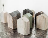 Inspirit Deco's Reclaimed Wood Finish Samples - 'The Monochrome Collection' - Gorgeously Simple Minimalistic Modern Wooden House Ornaments