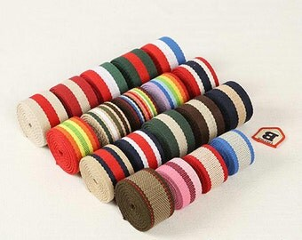 Cotton Webbing (38mm)1.5 and 11 Inch Five Yards Your Choice For Key Fobs Handbags 5 yards (T149)