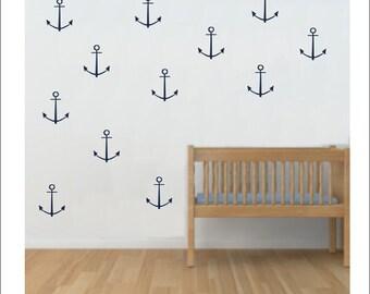 Anchor Wall Decals Vinyl Anchor Decals Nautical Set of Anchor Decals Vinyl Wall Decals Nursery Bedroom Wall Decals Boy Girl Housewares