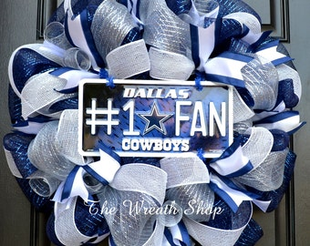 Dallas Cowboys Mesh Wreath - Cowboys Wreath