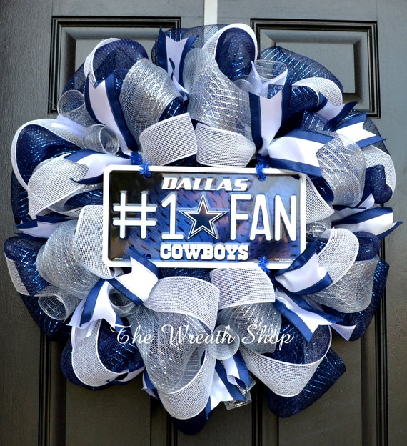 Dallas Cowboys Mesh Wreath Cowboys Wreath By