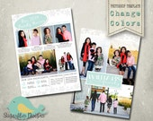 Christmas Card Template PHOTOSHOP TEMPLATE - Year in Review Christmas Card