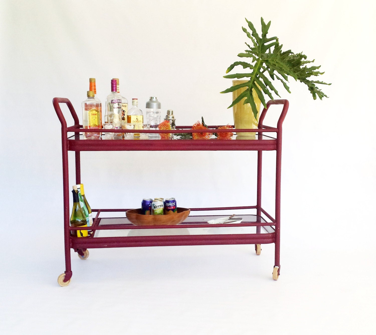outdoor bar cart with wine rack winston bar cart aluminum